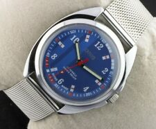 Vintage Oris elegant blue Swiss winding men working wrist watch 36mm