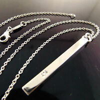 Necklace Chain Real 925 Sterling Silver S/F Solid Ladies Long Drop Pendant
