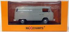Maxichamps 1/43 Scale 940 053060 - 1972 Volkswagen T2b Delivery Van - Grey