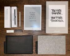 reMarkable 1 Paper Tablet Bundle + Leather & Felt Cases, Reg & Signature Pens