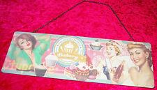 RETRO Blechschild, Metall Schild, Cupcake - Nostalgie Bakery 15 x 45 cm