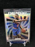 2019-20 Prizm Silver Emergent - RJ Barrett - NY Knicks - Rookie Card - #27 J37