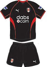 Mens Football Shirt & Shorts Kit - Fulham - Away 2003-2004 - Puma - Black