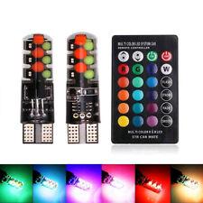 CANBUS T10 RGB Bombilla Coche Cuña lados Kit de Luz Bombilla LED con conjunto de control remoto