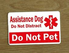 Assistance Dog Awareness Card, Awareness Card, Service Dog Vest Card, Plastic