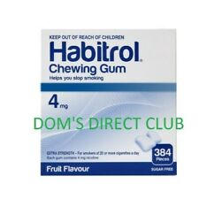 Habitrol 4mg Fruit Nicotine Gum 384 Pcs Per Bulk Box FAST FREE SHIPPING 1-4 DAYS