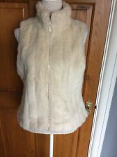 Ladies Faux Fur Jacket Winter White by BHS Size 14