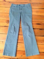 Anthropologie Paper Boy Green Flat Front Trousers Chinos Womens Pants 8 33x32