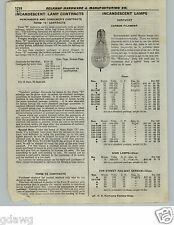 1922 PAPER AD 3 PG Kentucky Incandescent Lamp Bulb Carbon Tungsten Vacuum