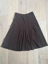 Jacquie E chocolate brown stretch skirt size medium worn once AS NEW 3/4 Length