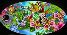 Butterfly Butterflies Colorful Aluminum Oval Keychain Key Chain New Beautiful!