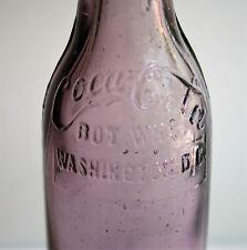 Washington DC Amethyst Script Straight Side Sided Bimal Coca Cola Bottle