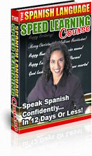 Spanish Language Speed Learning Course Learn to Speak Spanish in 12 Days on CD b