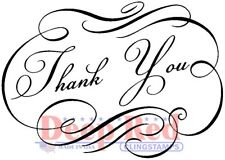 Deep Red Stamps Essentials - Fancy Thank You Rubber Cling Stamp