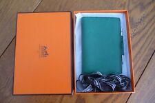 Hermès, Porte agenda cuir grand modèle en veau Epsom couleur VERT