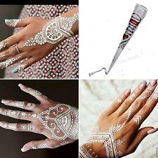 12 x White Henna Cones by Sajani Bridal Temporary Tattoo Body Paint Mehndi