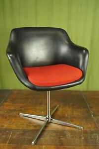 Vintage Chair Swivel Chair Retro Dining Room Chrome Desk Designer Chair 60er