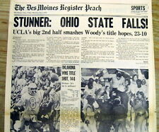 <1976 newspaper UCLA STUNS OHIO STATE Wins Rose Bowl NO FOOTBALL TITLE for Hayes