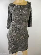 ☆ MISS SELFRIDGE Ladies Grey Animal Print Mini Bodycon Dress UK 10 EU 38 ☆