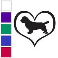Heart Sussex Spaniel Dog Love Decal Sticker Choose Color + Size #1523
