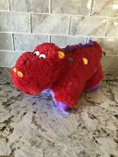 Pillow Pets Hippo In Red /purple Small Pee-wees