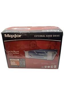 Maxtor extrenal hard drive 7200 rpm 80 GB usb 2.0 5,000 LE  NIB!