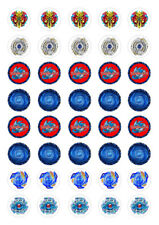 40 Beyblade Burst 3cm round cupcake edible images toppers