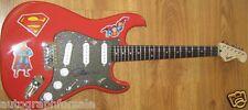 Jim Lee autographed signed auto Superman DC Fender Squier Bullet electric guitar