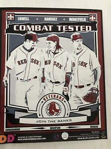 Set of 4~BOSTON RED SOX Dunkin Donuts Posters by Chris Speakman~2008 MLB Players