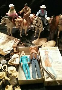 1970s Gabriel The Lone Ranger and Tonto sundown kid an Jane west with horse's