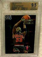 MICHAEL JORDAN 1996 TOPPS NBA STARS FINEST ATOMIC REFRACTOR #24 BGS 9.5 POP 11