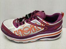 Hoka One One Bondi 3 Women's Size 10 White/Purple/Coral Athletic Sneakers