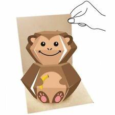3D Pop up Animal Greeting Card - Monkey