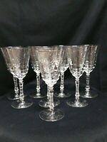 Vintage Rocke Sharpe 1940s  Artic Rose Star of David Water Glasses set of 8