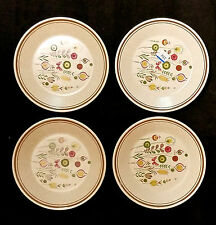 Lenox Sprite Temper Ware 4 Bread Butter Plates Lot Flowers Butterfly 6.5in 1970s