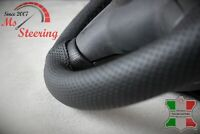 SEAT ALHAMBRA MK1 96-10 PERFORATED LEATHER STEERING WHEEL COVER BLACK DOUBLE ST