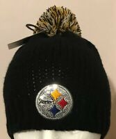 Pittsburgh Steelers Womens Knit Beanie Stocking Cap Hat NFL Team Apparel NWT