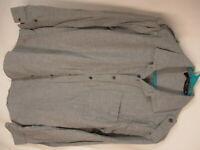 Eubiq Robert Mens Grey Flannel Long Sleeve Cotton Shirt S USA Made