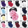 2x FLOWER HAIR ACCESSORY ELASTIC BOBBLES PONIOS HAIRBAND GIRLS SCHOOL BOBBLES UK