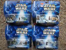 Star Wars Micro Machines Episode I Collection I II III IV Lot of 4