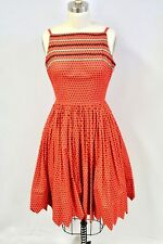 d43fa3589ba VTG 1950s Marvelous Maisel Sun Dress MaM selle Betty Carol Red Cotton Print  XS
