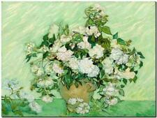 "Vincent Van Gogh CANVAS ART PRINT Still life Vase & pink roses 32""X 24"""
