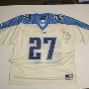 Eddie George 27 Tennessee Titans Adidas Unisex Jersey Blue White Mesh V Neck XXL