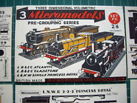 1952 Vintage Original Micromodels PG1 Pre-Grouping British Locomotives 2/6d