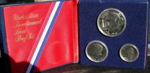 1976 Bicentennial 3 Coin Silver U.S. Proof Set