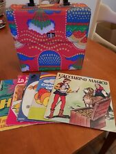 Valigetta porta dischi vintage anni 60/70  + regalo 5 dischi vari