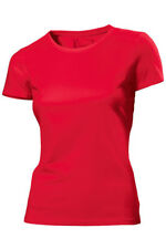 Hanes Plain RED Organic Cotton Ladies T-Shirt