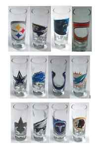 NFL Football 2oz Logo Hype Shot Glass - Choose Your Team