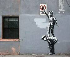 QUALITY BANKSY ART IN NEW YORK PHOTO PRINT (GRAFFITI IS A CRIME)