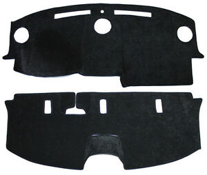 NEW Black Simulated Suede Dash & Rear Deck Mat Cover / FITS: 05-07 CHRYSLER 300